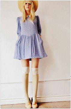 babydoll blue dress