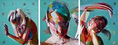 """Saatchi Art is pleased to offer the painting, """"Tractor (Tryptic),"""" by Simon Birch. Original Painting: Oil on N/A. Woman Painting, Figure Painting, Simon Birch, Expressionist Portraits, Arts Ed, Conceptual Art, Art Projects, Project Ideas, Oil On Canvas"""