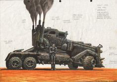 BROTHERTEDD.COM - Peter Pound concept art for MAD MAX: FURY ROAD.... Zombie Survival Vehicle, Grand Prix, Mad Max Fury Road, Garage Art, Futuristic Cars, Dieselpunk, Amazing Cars, Concept Cars, Halloween