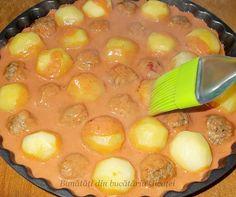 Chiftele cu cartofi la cuptor - Bunătăți din bucătăria Gicuței Vegetable Recipes, Pudding, Vegetables, Desserts, Foods, Mariana, Tailgate Desserts, Food Food, Food Items