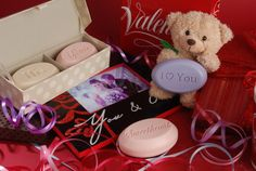 Great Valentine's Day gifts - scented soaps personalized and engraved with your message of love - lots of options available