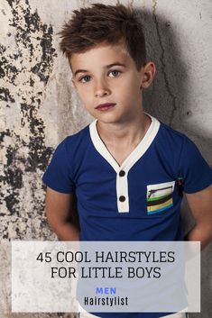 45 Hairstyle Ideas for Little Boys : Discover the most trending hairstyles for little boys and learn how to style them Little Boy Hairstyles, Cute Hairstyles, Hairstyle Ideas, Wavy Layers, How To Cut Bangs, Trending Hairstyles, Boyish, Pompadour, Haircuts For Men