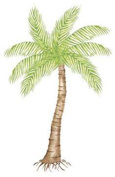 Large Palm Tree Wall  Stencil