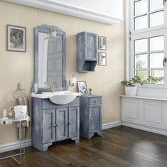 Mobilier de baie clasic de la producatorul Savini Due, seria Alice cu dimensiuni de: 75 cm latime, 54 cm adancime si 199 inaltime, culoare natur lacuit. Seria Alice contine: masca, lavoar ceramic, oglinda si iluminare. Double Vanity, Bathroom, Washroom, Full Bath, Bath, Bathrooms, Double Sink Vanity