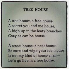 shel silverstein treehouse poem | shel silverstein # tree house