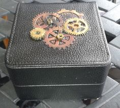 Black Leather Watch Box Inspired by Steampunk  Industrial Chic Style by…