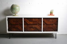 Custom Made Brutalist Inspired Credenza If you feel like you just died and went to credenza heaven its probably because you just did! This cabinet is a ONE-OF-A-KIND CUSTOM PIECE made to order with your specific needs in mind. For your credenza, we can customize colors, dimensions, etc. This stunning piece draws inspiration from the Brutalist era and we are especially influenced by the amazing forward thinking designer, Paul Evans. The lead time for building this piece is currently…