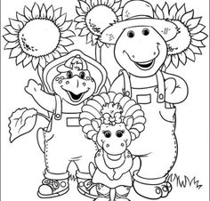 BARNEY the Purple Dinosaur: FREE colouring pages @ Unique Printable Coloring Pages