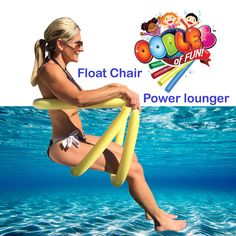 Power Lounger Floating Pool (Blue) Noodle Water Chair Comfortable and Relaxing Extra Floatation Above Ground Pool, In Ground Pools, Lake Toys, Foam Noodles, Pool Chairs, Bag Chairs, Lounge Chairs, Chair Exercises, My Pool