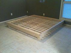 Interior Ideas. cream wooden diy platform bed frame king size on cream tile floor. Amazing Diy Platform Bed Frame Interior Ideas