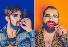 Quem disse que glitter é coisa de menina? Por sinal, quem disse que qualquer coisa tem sexo? Certamente não foi o fotógrafo Mark Leeming, que acredita que o mais importante é que as pessoas possam se expressar livremente e, de preferência, com muita cor e brilho. A partir dessa premissa e de sua paixão por barbas e glitter, surgiu a coloridíssima série fotográfica Bearded Brutes, em que mistura pelos faciais, maquiagem e muita criatividade. Nos ensaios criados por ele, é possível perceber…