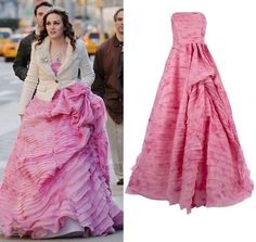 Oscar De La Renta Blossom Shibori Silk Organza Strip Embroidered Gown