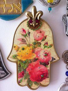 Hamsa Painting, Hamsa Design, Jewish Art, Hand Of Fatima, Hamsa Hand, Evil Eye, Elsa, Symbols, Shapes