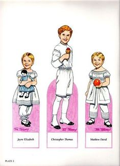 """Children's Fashions from 'Godey's Lady's Book' Paper Doll by Tom Tierney; Dover Publications (2 of 16)"