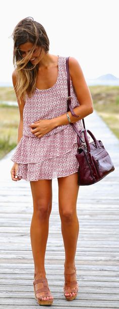 shift dress + wedges