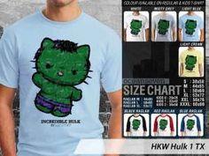 Kaos Hello Kitty Terbaru versi HULK avengers