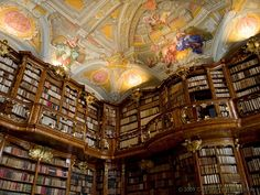 Library at St. Florian's monastery in Austria.  Had to be inspirations for library in Beauty and the Beast.