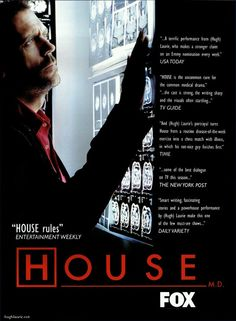 HOUSE M. Loved it. until it turned into a romantic soap opera, then I stopped watching! Gregory House, Dr Tv Show, It's Never Lupus, House And Wilson, Sean Leonard, Everybody Lies, Drama Tv Shows, House Md, Hugh Laurie
