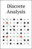 Discrete Analysis is a mathematical journal with an emphasis on areas of mathematics that are broadly related to additive combinatorics. Mathematics, Inspire Me, Cover Design, Distance, Age, Journal, Digital, Math, Book Cover Design