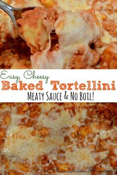 Cheese Tortellini Recipes, Tortellini Bake, Pasta Recipes, Casserole Dishes, Casserole Recipes, Enchilada Casserole, Sausage Recipes, Breakfast Casserole, Beef Recipes