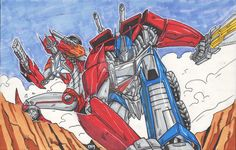 Transformers Prime Optimus and Causeway By: 1314 by Lady-ElitaOne-Arts.deviantart.com on @DeviantArt