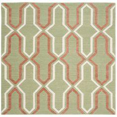 Dhurries Green / Orange Contemporary Area Rug | Wayfair