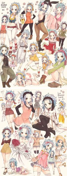 Levy <---gajeel will probably get a nosebleed from seeing this *-*