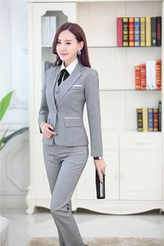Gender: Women Item Type: Pant Suits is_customized: Yes Clothing Length: Regular Closure Type: Single Breasted Material: Cotton,Polyester,Microfiber Pant Closure Type: Button Fly Collar: Notched Sleeve