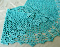 ALL SHAWL in Ocean Green for summer