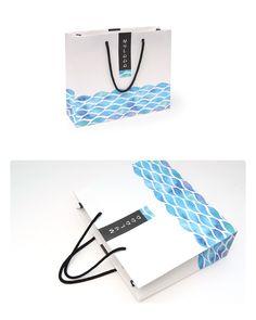 #템플릿_물결무늬 패턴(YJ001CF) #파페루스 #paperus.co.kr #쇼핑백 #디자인 #템플릿 Packging Design, Identity Design, Logo Design, Paper Bag Design, Japanese Packaging, Paper Gift Bags, Beverage Packaging, Printing Labels, Vintage Design