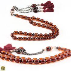 Fire Amber Prayer Beads with Sterling Silver #tasbih #prayerbeads #worrybeads