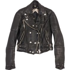 Burberry Black Leather Jacket | Vestiaire Collective