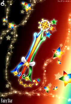 Sleeping Beauty keyblade, from the three good fairies in Birth by Sleep