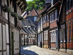 Die Peterstraße in der historischen Altstadt von Goslar