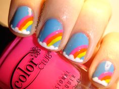 Image detail for -MandysSecrets: 31 DAY CHALLENGE -- Day 9: Rainbow Nails