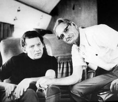 Jerry Lee Lewis and his dad, Elmo, aboard Jerry's jet.