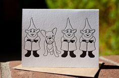 Gnomes+French bulldog= AMAZINGNESS!