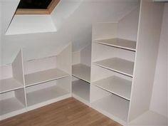 Kastenspecialist La Serra : Realisaties : Open dressing onder schuin plafond (project te Paal-Beringen)