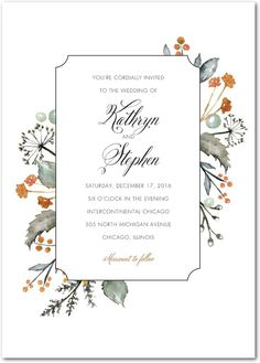 Wedding Invitations, Bridal Shower Invitations  Announcements by Wedding Paper Divas