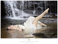Rebecca - Styled Waterfall Trash the Dress Session 20 | Michelle Brooks Photography