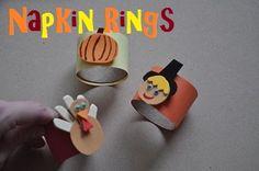Thanksgiving napkin ring craft