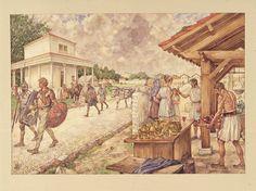 Schoolplaat Romeinse legerplaats aan de Rijnmond (Valkenburg)