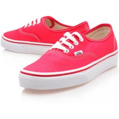 Vans Red Authentic Trainers found on Polyvore 997f6b932