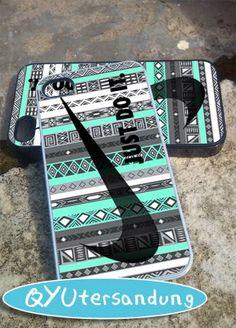 Nike aztec mint   iPhone 4/4s/5/5c/5s Case  by QYUtersandung, $15.00