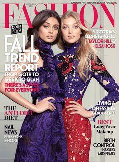 Victoria's Secret Beauties Taylor Hill & Elsa Hosk Cover FASHION Magazine