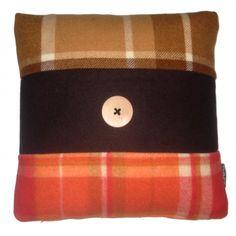 Pure Wool Vintage Blanket Cushion - hardtofind.