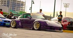 The lowest RWB of the world lives in the Philippines! #rwbmanila Photo by The Fresh Produce. #carpornracing #rwb #rauhweltbegriff #victoria #purple #porsche #993 #airsuspension #thefreshproduce