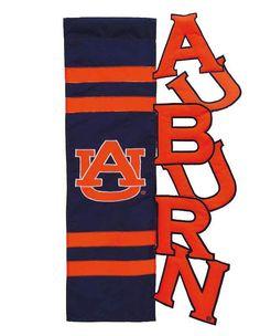 Auburn Tigers Applique Sculpted Garden Flag