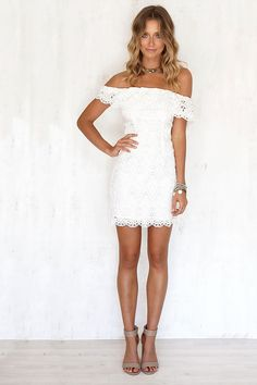 Free Sipping Women Dress 2016 Summer Sexy Strapless Package Hip White Lace Dress Plus Size Dress Mini Dress Vestido *** You can get additional details at the image link. Grad Dresses, Homecoming Dresses, Prom, Net Dresses, Wedding Dresses, Off Shoulder Lace Dress, Lady, Summer Dresses For Women, Ladies Dresses
