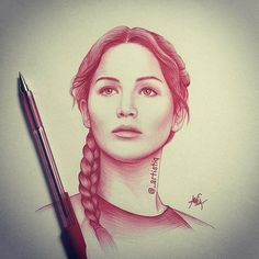 Katniss Everdeen, the male tribute from the district in the Hunger Games (Fan Art) (Jennifer Lawrence) The Hunger Games, Hunger Games Series, Hunger Games Catching Fire, Katniss Everdeen, Amazing Drawings, Amazing Art, Awesome, Hunger Games Drawings, Charcoal Drawings